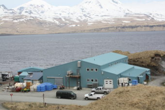 Atka Pride Seafood cannery, pictured in 2013. (Photo by Lauren Rosenthal/KUCB)
