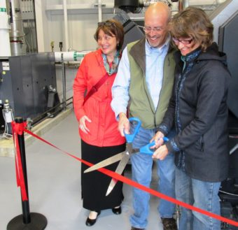 Ketchikan Biomass Ribbon cutting