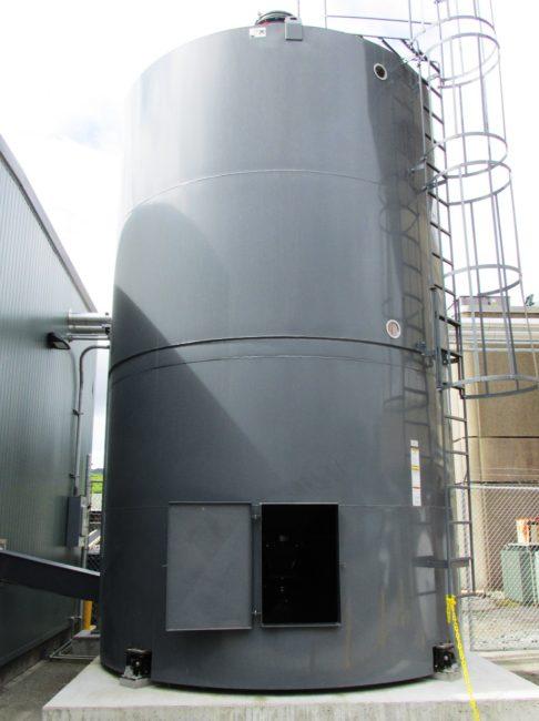 Ketchikan airport biomass boiler silo