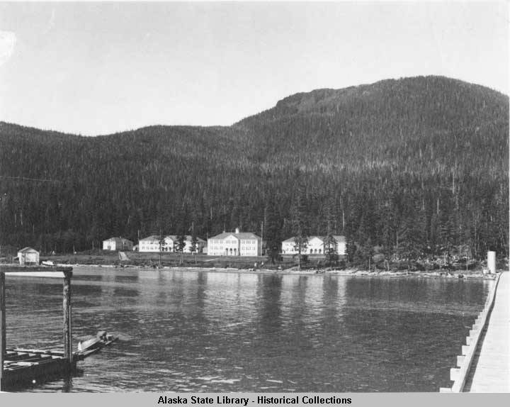 """An undated photo of the Wrangell Institute school from a collection with covering 1898 to approximately 1946. (Photo courtesy < a href=""""http://vilda.alaska.edu/cdm/singleitem/collection/cdmg21/id/1848/rec/1"""">Alaska State Library Historical Collections)"""
