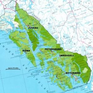 The Tongass National Forest makes up most of Southeast Alaska (Courtesy U.S. Forest Service)
