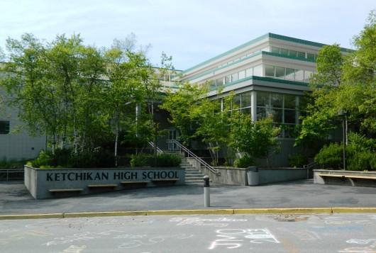 Ketchikan High School. (Photo by KRBD)