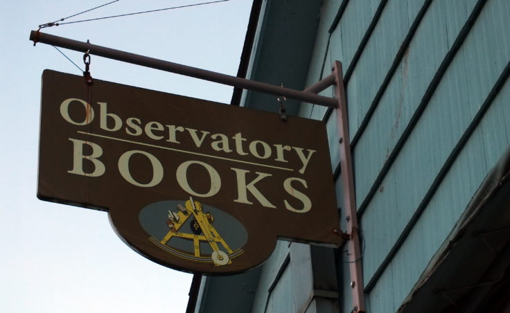 The last day of business for Observatory Books is Nov. 26, 2016.