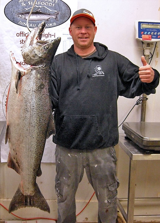 David Turner Jr. won 2016's Spring King Salmon Derby with a 29.25-pound salmon. (Image courtesy Central Council of Tlingit and Haida Indian Tribes of Alaska)