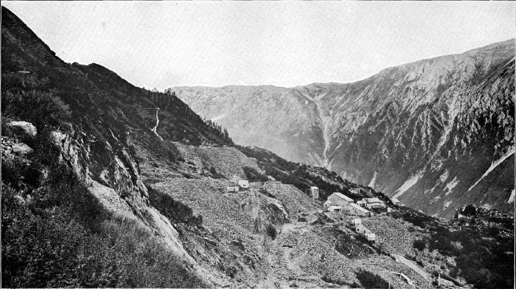 This public domain photo shows the Alaska Juneau Gold Mine and Mill along Gold Creek. (Photo by Arthur C. Spencer, USGS Bulletin 287, The Juneau Gold Belt, Alaska, via Wikimedia Commons)This public domain photo shows the Alaska Juneau Gold Mine and Mill along Gold Creek. (Photo by Arthur C. Spencer, USGS Bulletin 287, The Juneau Gold Belt, Alaska, via Wikimedia Commons)