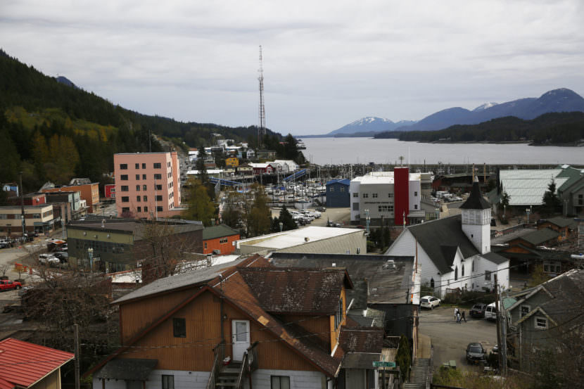 Ketchikan sits on an island at the southernmost end of southeast Alaska, a prime spot for cruise ships navigating Alaska's Inside Passage. (Photo by Elissa Nadworny/NPR)