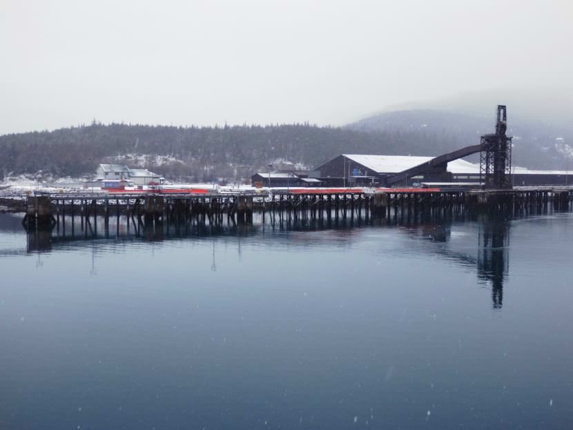 The Skagway ore dock. (Photo by Emily Files/KHNS)