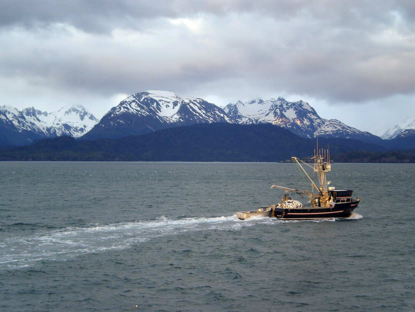 Fishing Boat in Kachemak Bay.
