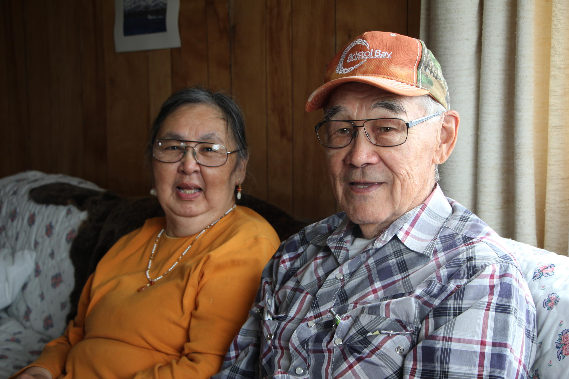 Paul and Nattie Boskoffsky have lived in Egegik for many years. (Photo by Nick Ciolino/KDLG)