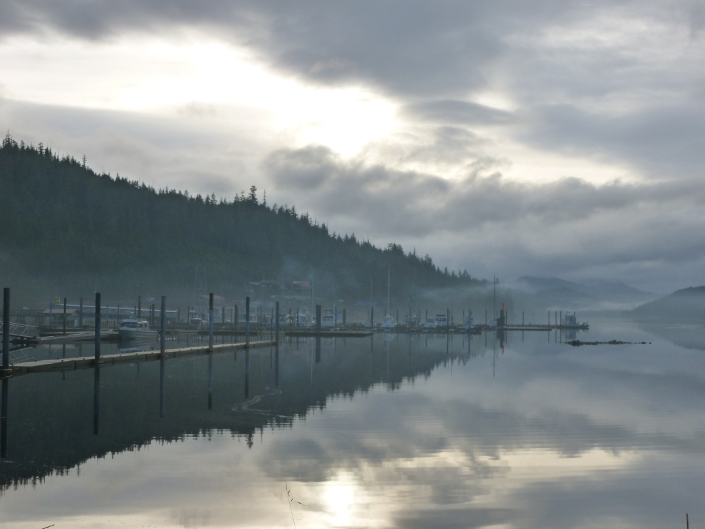 The harbor at Thorne Bay on Prince of Wales Island. (Photo courtesy Department of Commerce, Community and Economic Development; Division of Community and Regional Affairs' Community Photo Library)