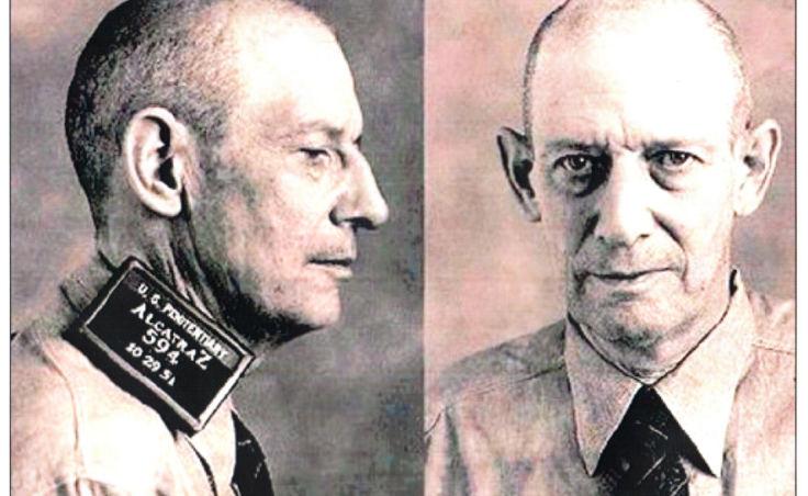 Mugshot of Robert Stroud at Alcatraz