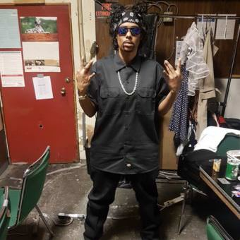 Tahir McInnis dressed as Coolio backstage at the Rendezvous for FAME : Drag Show from Stage to Screen on Saturday, Aug. 12, 2017. (Photo courtesy of the artist)