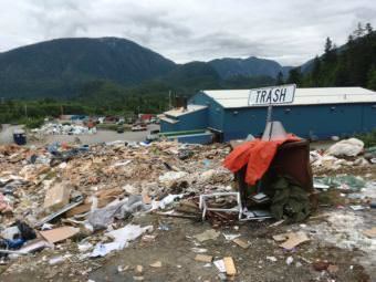Ketchikan's landfill offers a permit program that allows people to come up to the fill and take anything that strikes their fancy. It saves the City of Ketchikan money, and recycles items that otherwise would take up space in the fill. (KRBD photo by Leila Kheiry)