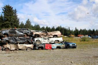 Yakutat's dump was out of state compliance for decades, attracting bears at all hours. Through new staff, a 1 percent sales tax, and grant money from the Yakutat Tlingit Tribe, the city now operates one of the tidiest dumps in the state without barging their trash off-site. (Photo by Emily Kwong/KCAW)