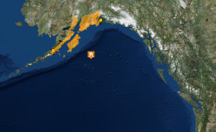 By 3:23 a.m. Tuesday, Jan. 23, 2018, the U.S. Tsunami Warning System had canceled or downgraded the tsunami warning across the Gulf of Alaska. The orange areas remained under tsunami watch.