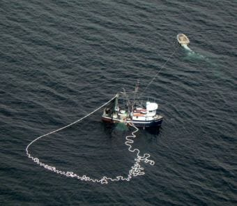 A purse seiner fishes for salmon in Southeast Alaska in 2010. (File photo by KFSK)