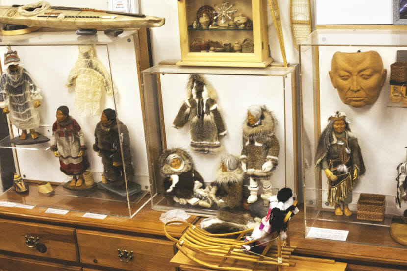 A doll display at Aunt Claudia's Dolls museum in downtown Juneau. (Photo by Tripp J Crouse/KTOO)