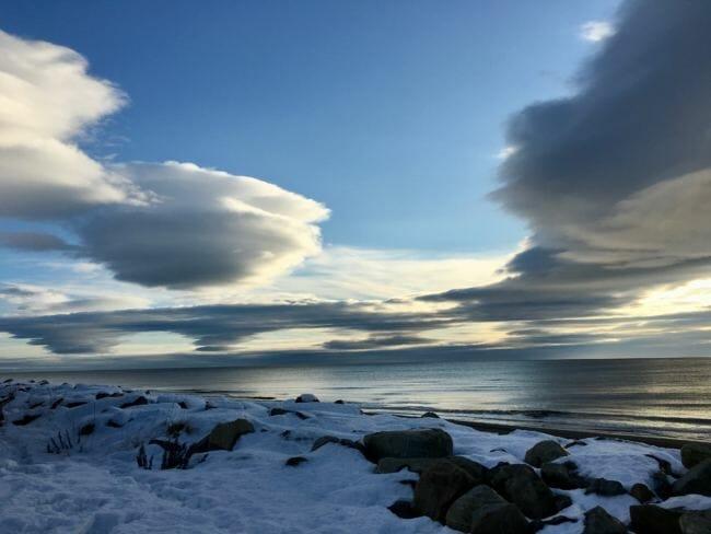 Bering Sea coastline near Nome, October 2017. (Photo by Zoe Grueskin/KNOM.)