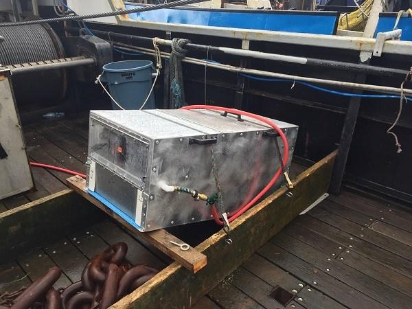 The chute camera device. (Photo courtesy Craig Rose)