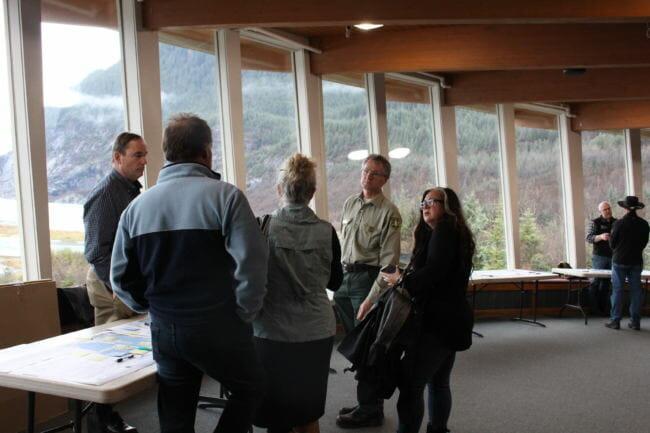 Mendenhall Glacier Visitor Center (Photo by Elizabeth Jenkins/Alaska's Energy Desk)