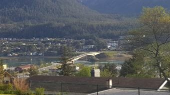 The Douglas Bridge as seen from the 1600 block of Evergreen Avenue, Juneau. The Juneau area experienced highs in the 60s on Thursday, May 17, 2018. The National Weather Service forecast a partially cloudy Saturday and rain was possible late Sunday. (Photo courtesy Tripp J Crouse)