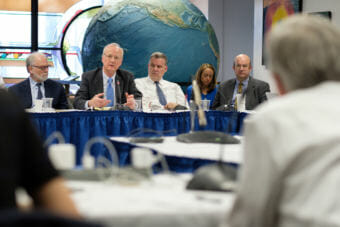 Meeting of Governor Walker's Climate Action Leadership team, chaired by Lieutenant Governor Byron Mallott, on the University of Alaska Fairbanks Campus, in Fairbanks, Alaska, April 12, 2018. David Lienemann/Office of Governor Bill Walker