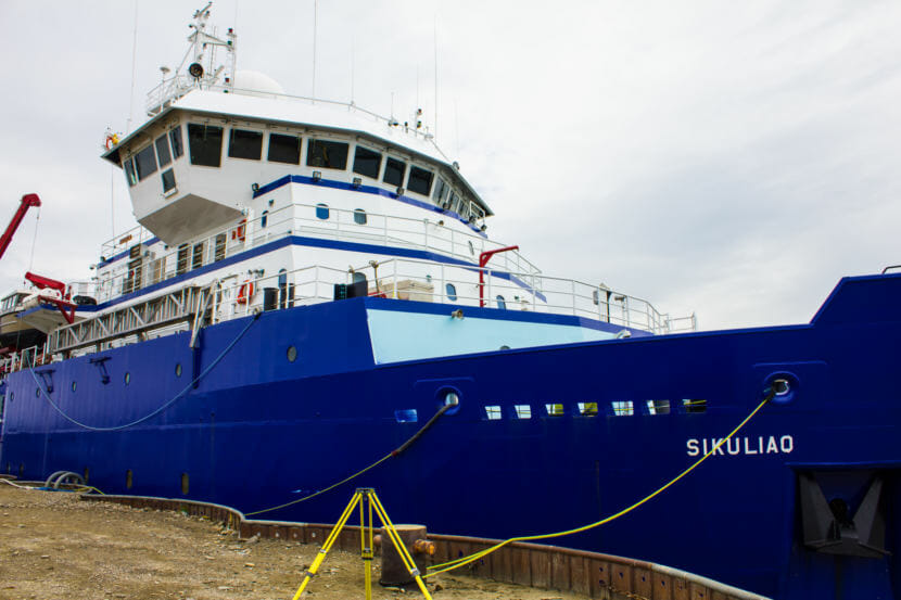 R/V Sikuliaq docks in Nome (File photo by Emily Russell/KNOM).