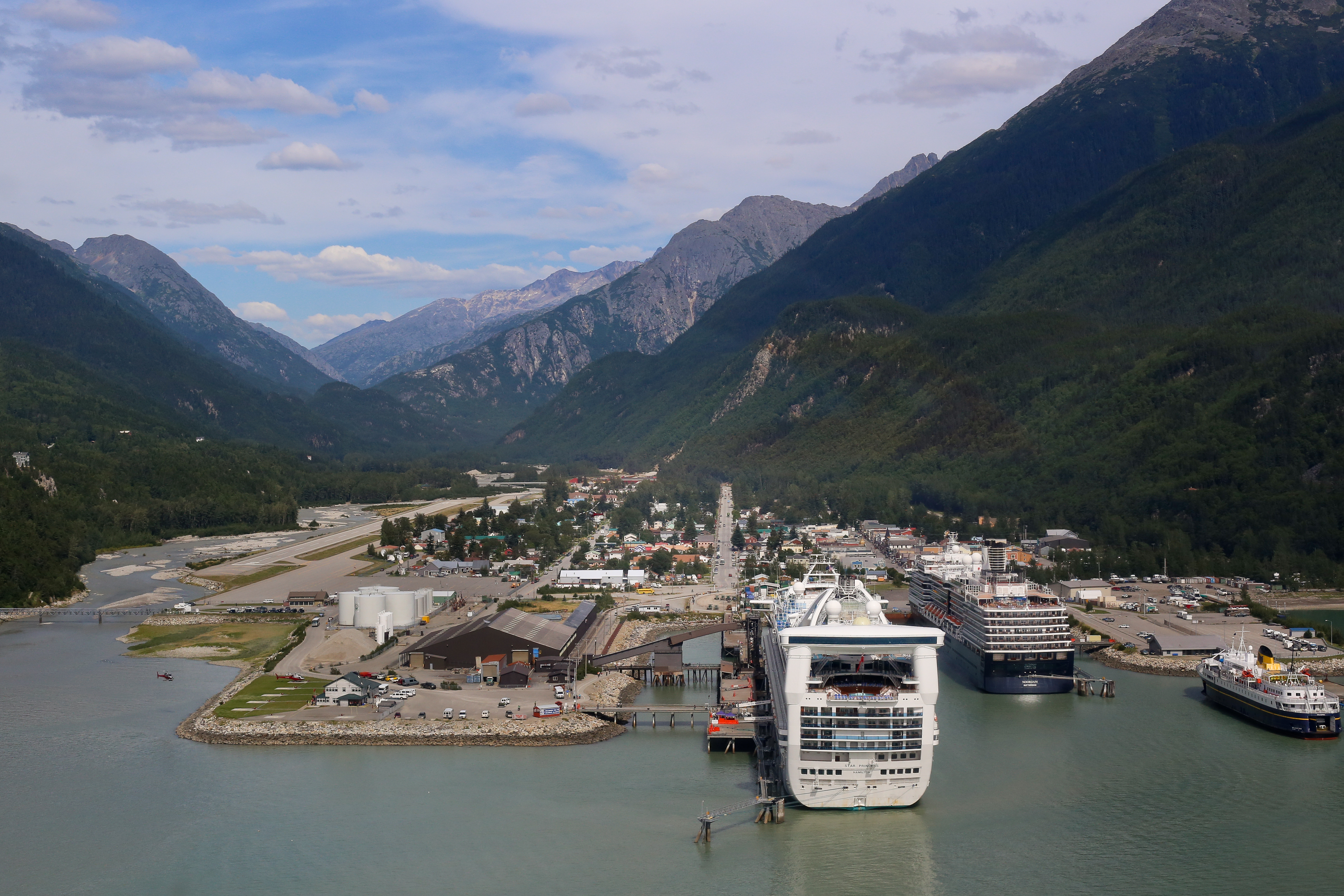 Skagway, as it appeared from the air, in 2015.