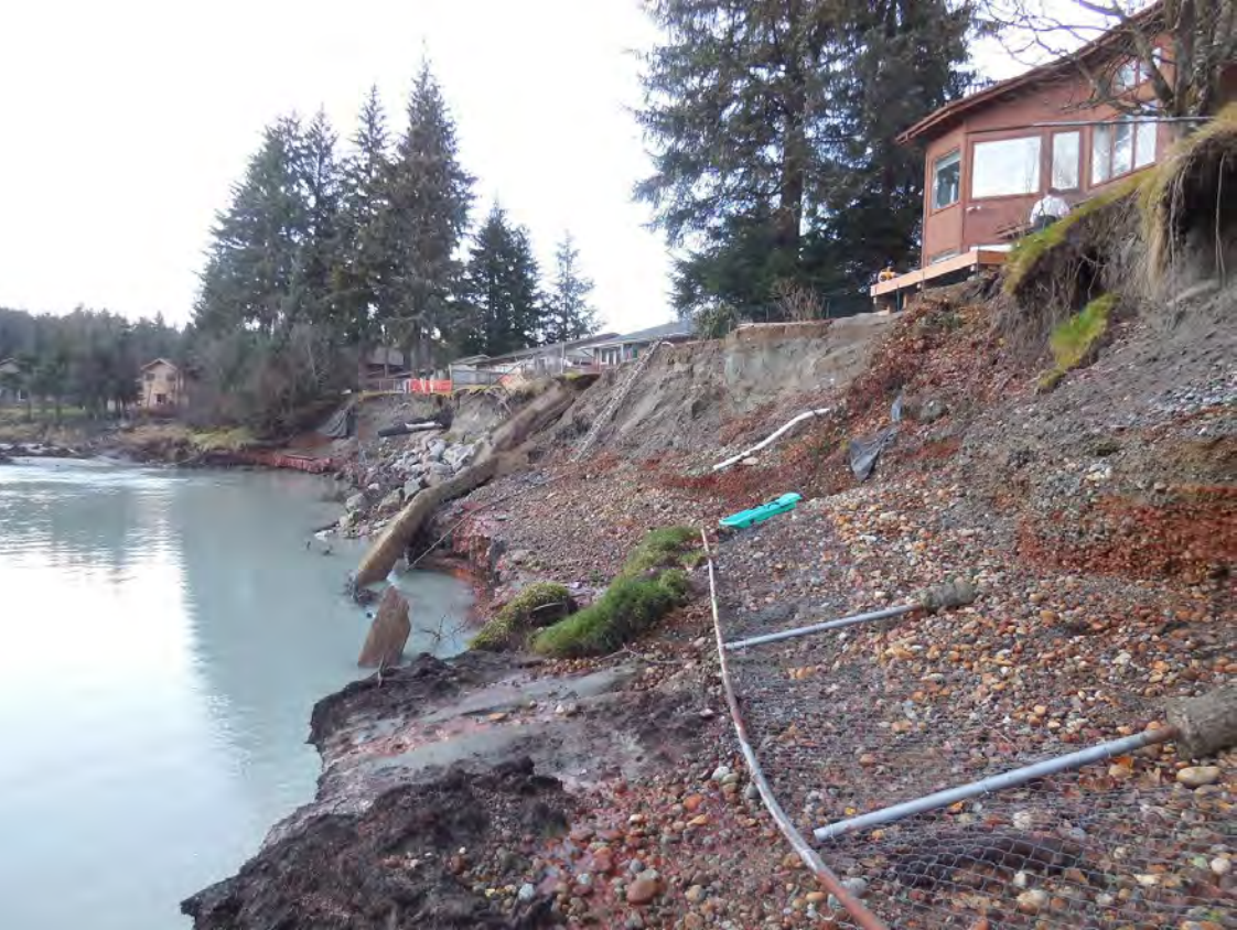 Erosion along the Mendenhall River. (Photo courtesy of City and Borough of Juneau)