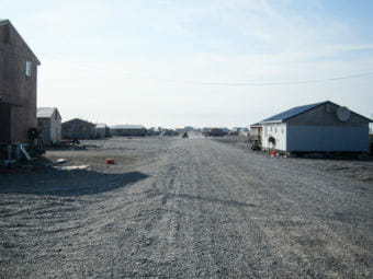 A road in Gambell. (File photo by KNOM)