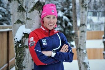 Kikkan Randall grew up in Anchorage and helped earn the first gold medal ever for the women's cross-country ski team. (Photo by Emily Russell/Alaska Public Media)