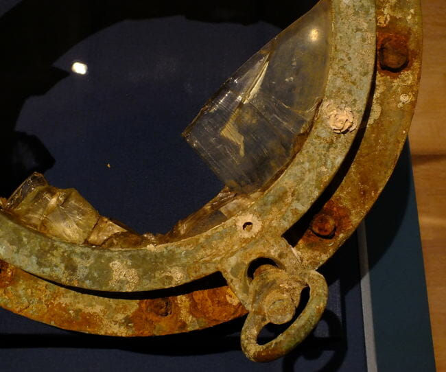 Porthole recovered from wreck of S.S. Princess Sophia.