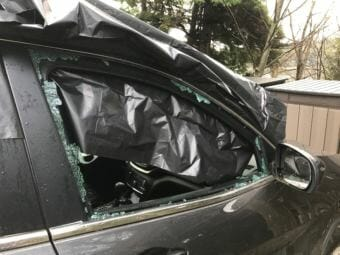 Twelve cars were reported vandalized on or near Glacier Highway. Owners reported smashed windows, missing property. Photo courtesy Nicole LaRoche.