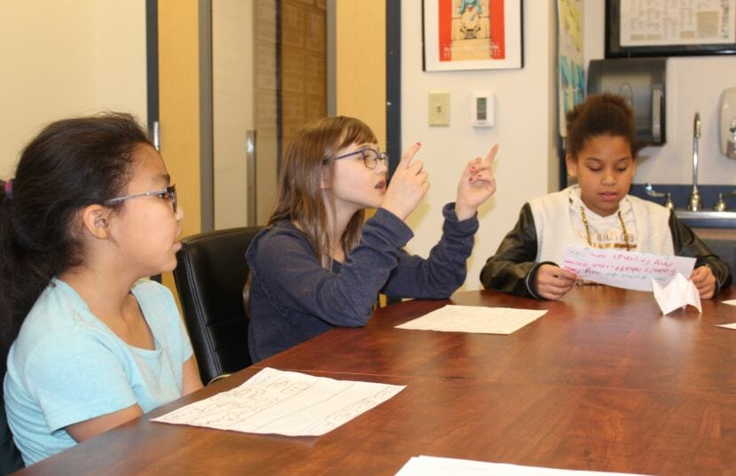 """Harborview Elementary School students enrolled in the Tlingit Culture Language and Literacy Program sing """"Jingle Bells"""" in the Tlingit language."""