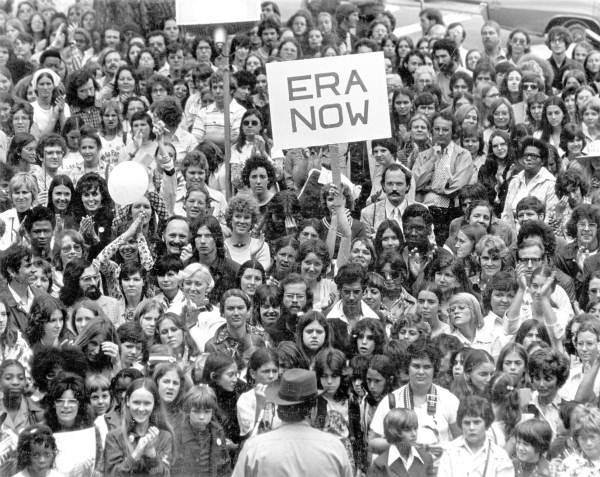 Demonstrators show their support for the Equal Rights Amendment in Florida in the 1970s.