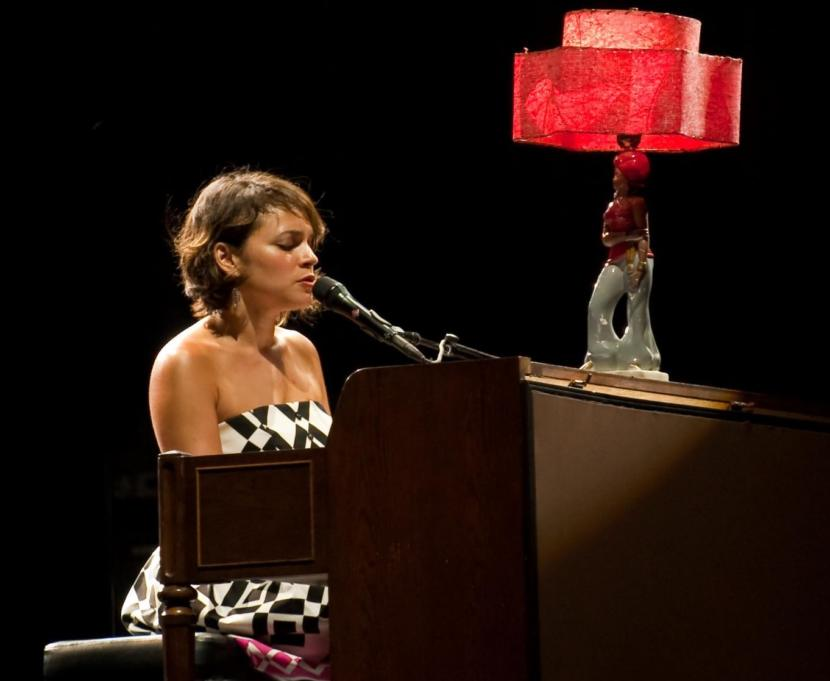 "Norah Jones performs on tour in 2010 promoting her album ""The Fall."""