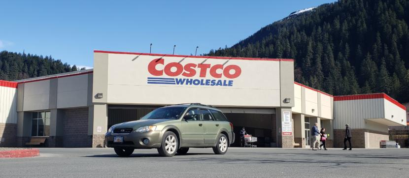 Even in the middle of the workday Tuesday, March 26, 2019, there's steady traffic at Costco in Juneau.