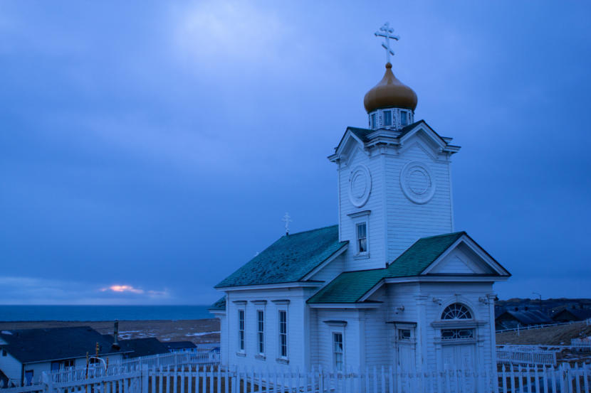 The Russian Orthodox church on St. Paul island, a legacy of the Russian colonization of the Pribilofs.