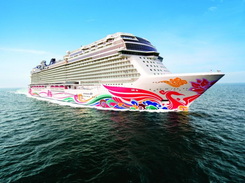The Norwegian Joy, NCL's latest megaship, will visit Alaska for the first time this summer. (Photo courtesy of Norwegian Cruise Lines)