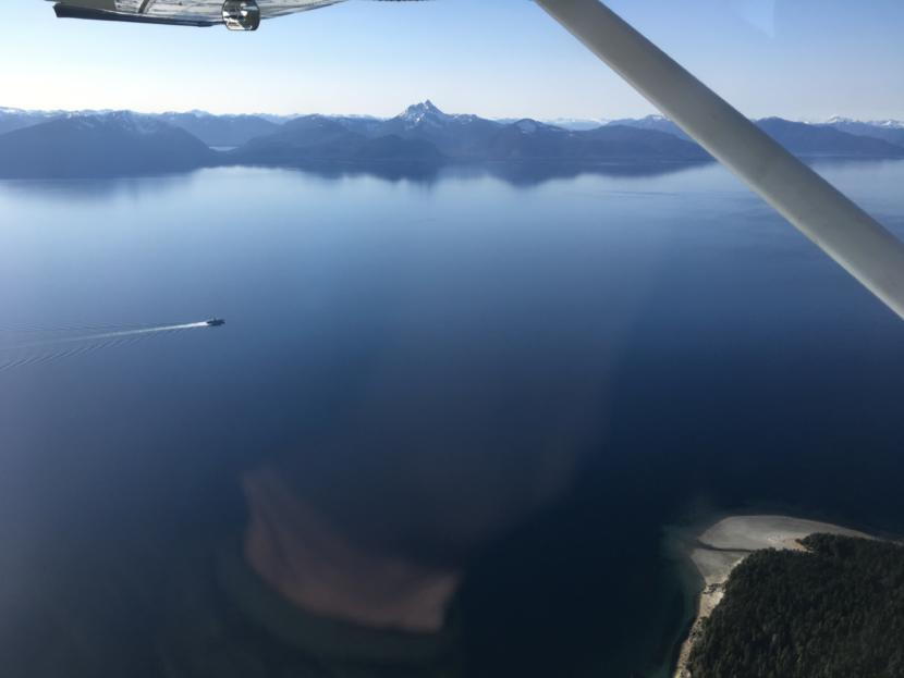 The MV LeConte cruises through Chatham Strait on its way north to Juneau from Angoon on Thursday.