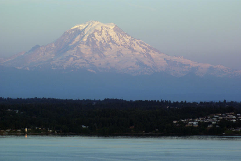 A view of Mount Rainier in Washington state.