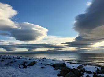 Bering Sea coastline near Nome, October 2017.