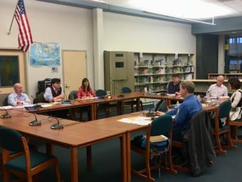 The Juneau school board meets on June 11, 2019. (Photo by Zoe Grueskin/KTOO)
