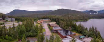 The University of Alaska Southeast campus in Juneau, shown on July 25, 2019 (Photo by David Purdy/KTOO)