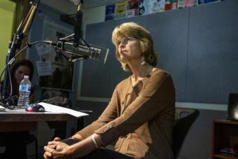 Sen. Lisa Murkowski, R-Alaska, answers questions in a studio at KTOO on August 13, 2019, in Juneau, Alaska. (Photo by Rashah McChesney/KTOO)