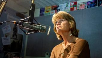 Sen. Lisa Murkowski, R-Alaska, answers questions in a studio at KTOO on August 13, 2019, in Juneau, Alaska. (Photo by Rashah McChesney/KTOO)