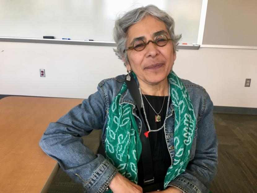 Ethnomathematician Swapna Mukhopadhyay on Aug. 8, 2019. (Photo by Zoe Grueskin/KTOO)