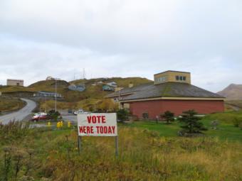 The polls will open Oct. 1 for Unalaska's municipal election. (Photo by Laura Kraegel/KUCB)