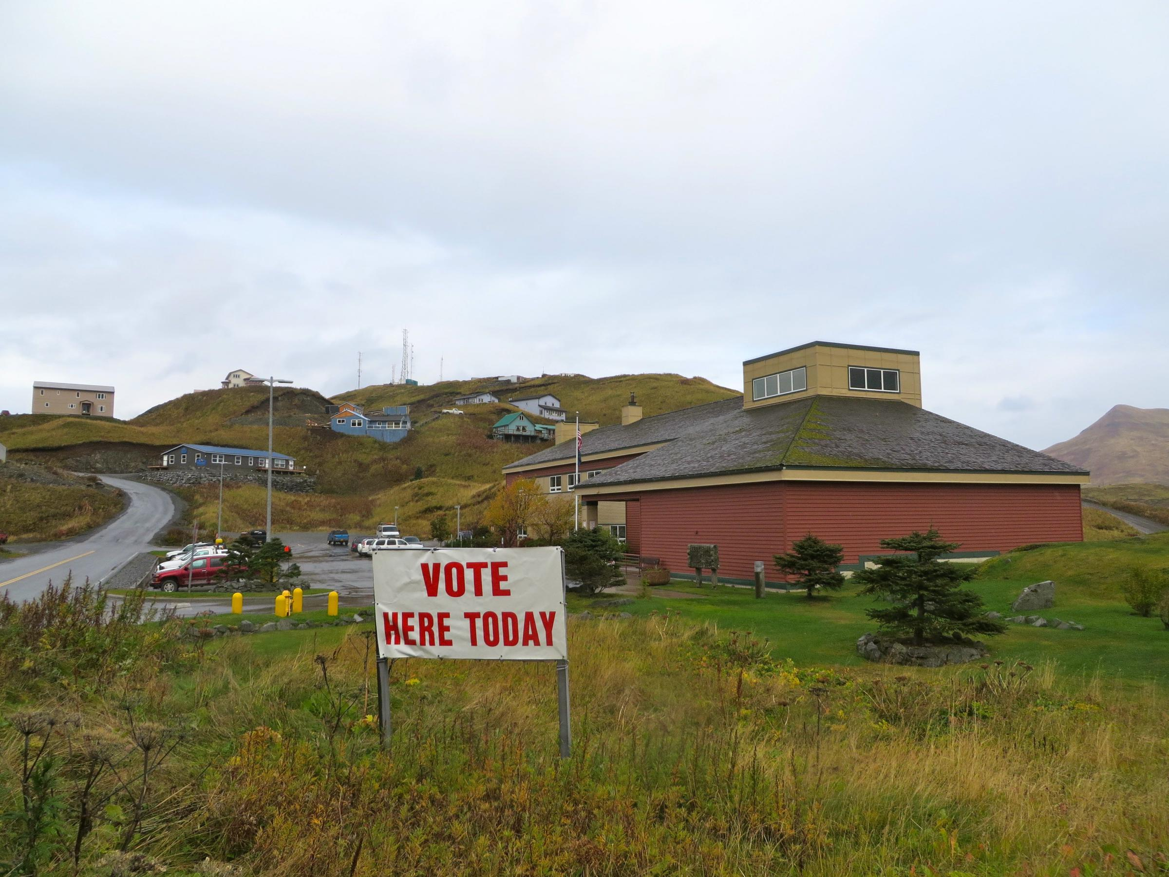 The polls will open Oct. 1 for Unalaska's municipal election. (Photo by Laura Kraegel/KUCB)