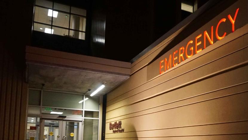 Emergency room entrance at Bartlett Regional Hospital.